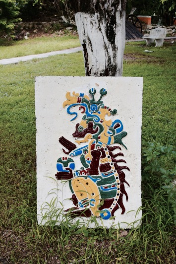Sculpture maya - Cozumel