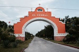 Entrée d'El Cedral - Cozumel