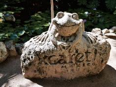 Statue de grenouille - Xcaret