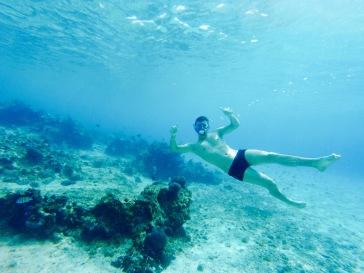 Alexandre et le snorkeling - Cozumel