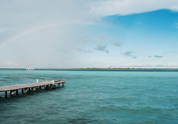 Lagune et arc-en-ciel - Bacalar
