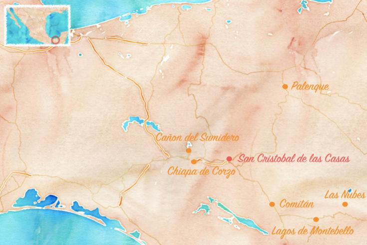 Carte Chiapas