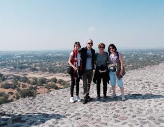 Vue depuis la pyramide del Sol - Teotihuacan