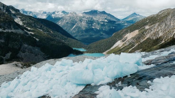 Vue depuis le glacier - Joffre Lake